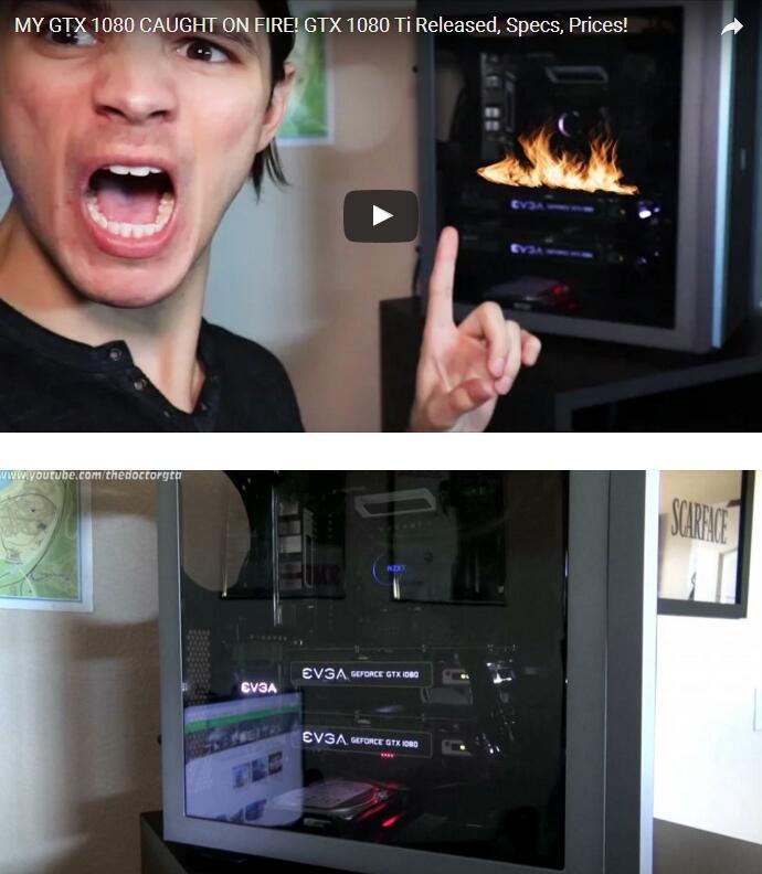 美国男子玩《GTA5》竟然把双路1080烧坏了 原因竟是因为这个