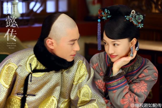 霍建华在中国拍摄的《如懿传》,与周迅分别扮演乾隆和如懿。