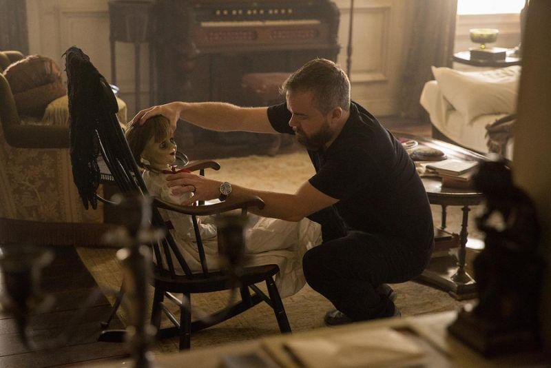 大卫桑德柏格在拍摄现场亲自「执导」安娜贝尔。