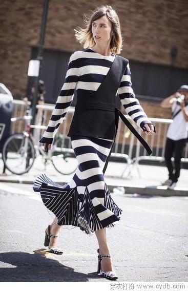 行走的线条艺术,简约控的时尚衣橱