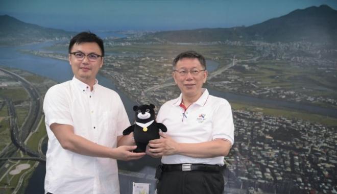 世大运未比赛先获德红点设计奖 柯P:让世界看到台湾最好的一面
