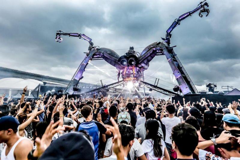 拥有360度大蜘蛛装置舞台的「2017 Arcadia Taiwan - Invasion」,将在11月11、12日连续2天在台北大佳河滨公园登场。