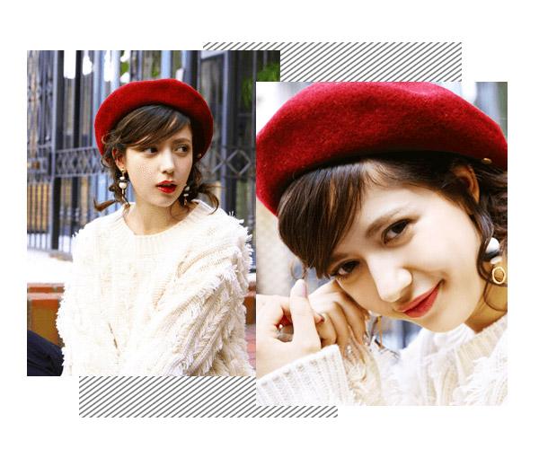 编发+帽子会是这个秋冬完美的配搭