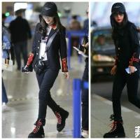 重返Dior怀抱 Angelababy机场秀整套